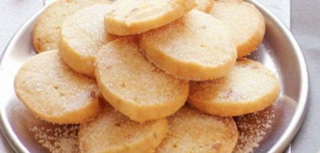 lemon ginger shortbread